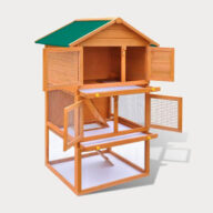 Rabbit cage pet house European standards Size 92x 80x 160cm 06-0006 Chicken Cage: Wooden Hen Coop Egg House Cage