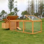 Wooden chicken cage hen house rainproof roof with plywood & SBS Material 06-0031