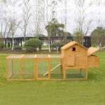 Wooden pet house rabbit cage 327x 105x 133cm SPF material 06-0033