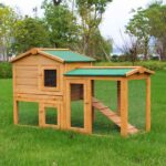 Wooden pet house rabbit cage rainproof roof 06-0034