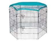 Wire Pet Playpen with waterproof polyester cloth 6 panels size 63x 91cm 06-0116 Wire Pet Playpen with waterproof polyester cloth 6 panels size 63x 91cm 06-0116