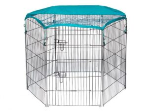 Wire Pet Playpen with waterproof polyester cloth 6 panels size 63x 91cm 06-0116