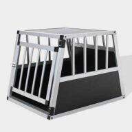 Single Door Aluminum Dog cage 75a 54cm 06-0765 Dog House: Pet Products, Dog Goods Single Door Aluminum Dog cage 75a 54cm