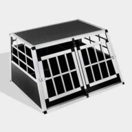 Aluminum Dog cage Small Double Door Dog cage 65a 89cm 06-0770 Dog House: Pet Products, Dog Goods Small Double Door Dog cage 65a 89cm