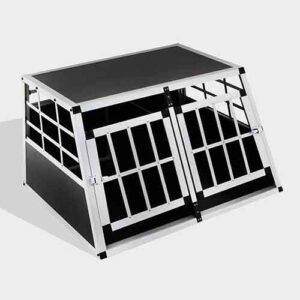 Small Double Door Dog cage 65a 89cm