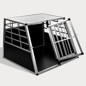 Large Double Door Dog cage With Separate board 65a