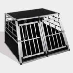 Aluminum Dog cage size 104cm Large Double Door Dog cage 65a 06-0775 Aluminum Dog cage size 104cm Large Double Door Dog cage 65a 06-0775
