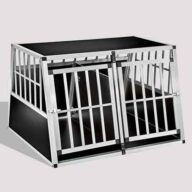Aluminum Dog cage Large Double Door Dog cage 75a 104 06-0777 Dog House: Pet Products, Dog Goods Large Double Door Dog cage 75a 104