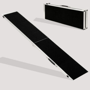 Folding Pet Ramp: Pet Telescoping Steps Dog Stairs For Car 183x 48x 5cm
