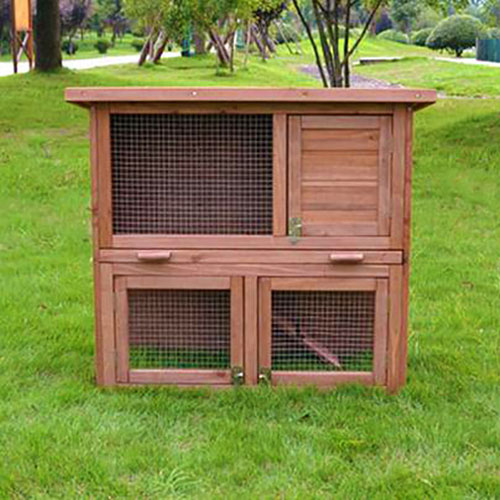 Selling wooden rabbit cage wood pet house 145x 45x 84cm 08-0027