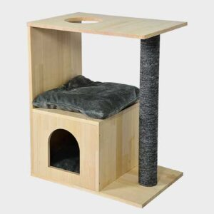 Pet Cat Furniture, wood cat tree hous 06-0197