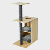 Cat Scratching Tree House: Wooden Cat Tree Cat Furniture 06-0201