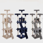 Pet Cat Cat Tree XXL Big Wooden Pet Cat Tree Tower House