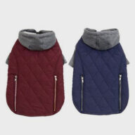 Colorblock Hooded Coat 06-1247