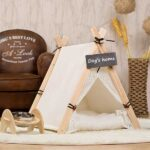 Pet Tent: White Front Lace Dog House Lace Teepee 06-0950