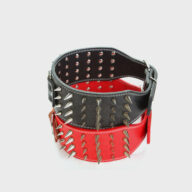 Customized Dog Collar Wide Long Spiked Rivet PU Leather Pet Dog Collar Leather Dog Collar Dog collars: Pet collars and other pet accessories Customized Dog Collar