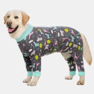 5XL Large Dog Clothes Ropa Para Perros Grandes Printing Winter Pet Accessories 06-1023-1 Pet Apparel: Puppy Sweaters & Dog Clothes 06-1023-1